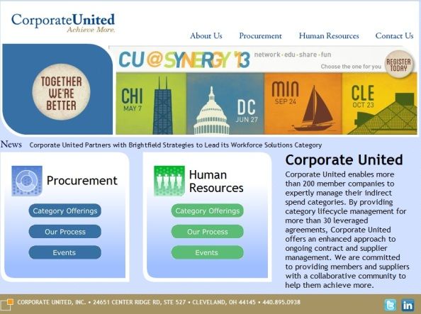 Click here to access Corporate United website . . .