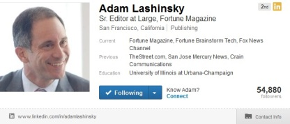 Adam Lashinsky LinkedIn Profile