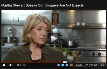 Martha Stewart on Bloggers