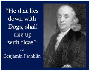 Benajmin-Franklin-Poster-Dogs-Fleas