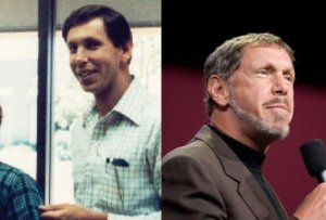 Larry Ellison . . . Then and Now