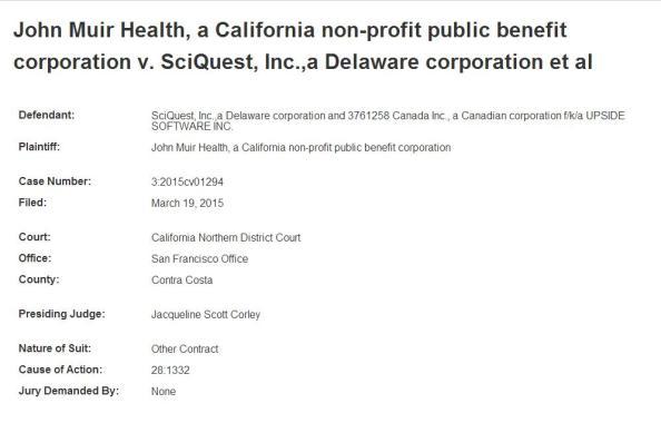 SciQuest being sued