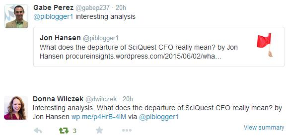 Coupa SciQuest Tweets