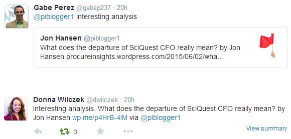 Coupa SciQuest Tweets