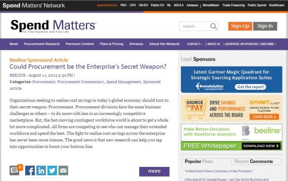 Spend Matters Paid Article