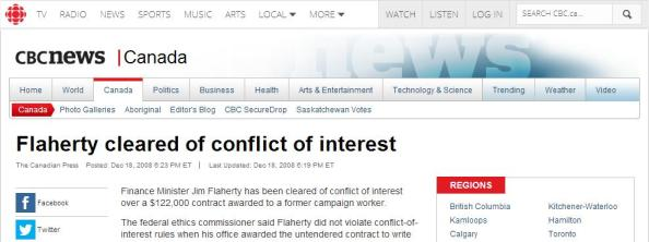 Flaherty Cleared CBC