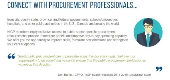 Buffum NIGP Membership quote