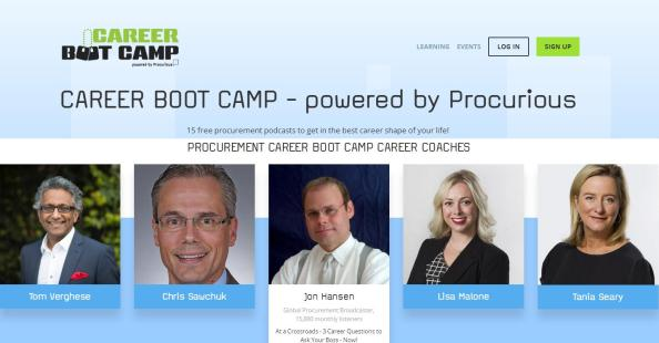 Procurious Career Boot Camp Banner